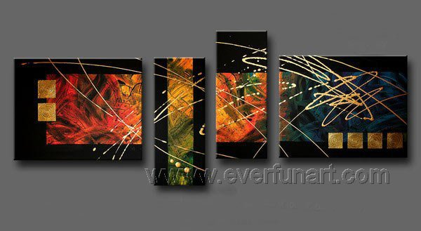 Handmade Abstract Oil Painting Modern Art Wall Decor Canvas Painting (+Frame)  XD4-018
