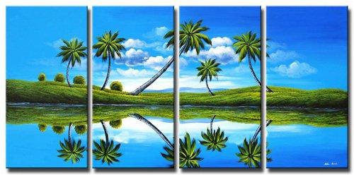Handpainted Landscape Oil Impressionist Art Canvas Painting (+Frame) LA4-021