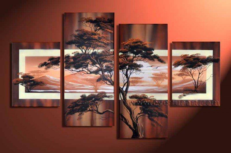 Handpainted Landscape Oil Impressionist Art Canvas Painting (+Frame) LA4-032