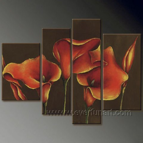 Gorgeous Oil Floral Painting on Canvas Very Pretty Flowers (+Frame) FL4-078