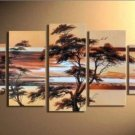 Hot Sell Summer Tree~Handpainted Landscape Oil Impressionist Art Canvas Painting (+Frame) LA5-001