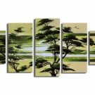 New Design Green Tree~Handpainted Landscape Oil Canvas Art (+Frame) LA5-004