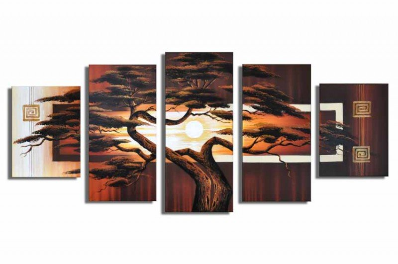 Top Sell Tree Painting.Handpainted Landscape Oil Impressionist Art Canvas Painting (+Frame) LA5-007
