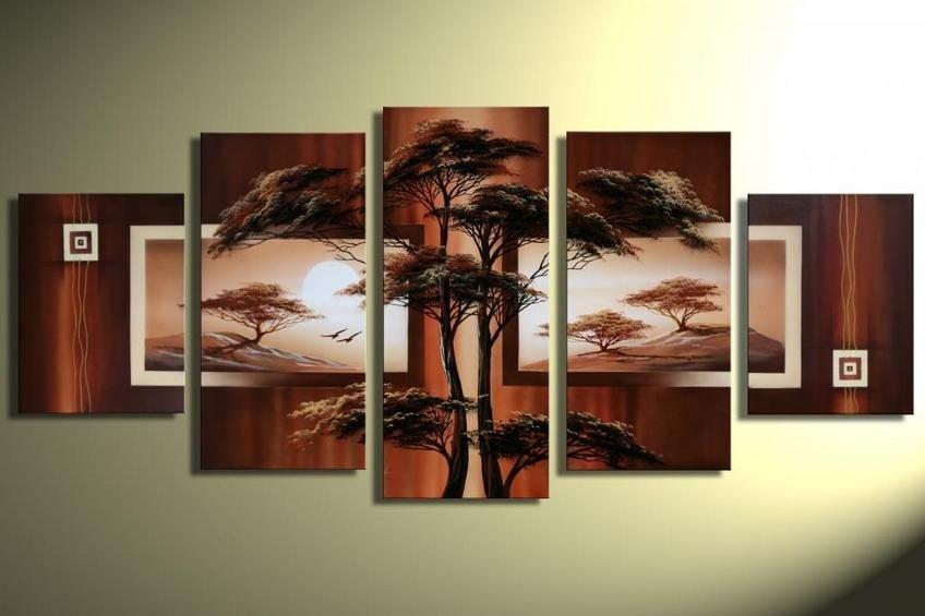 Top Sell Tree Painting!Handpainted Landscape Oil Impressionist Art Canvas Painting (+Frame) LA5-008