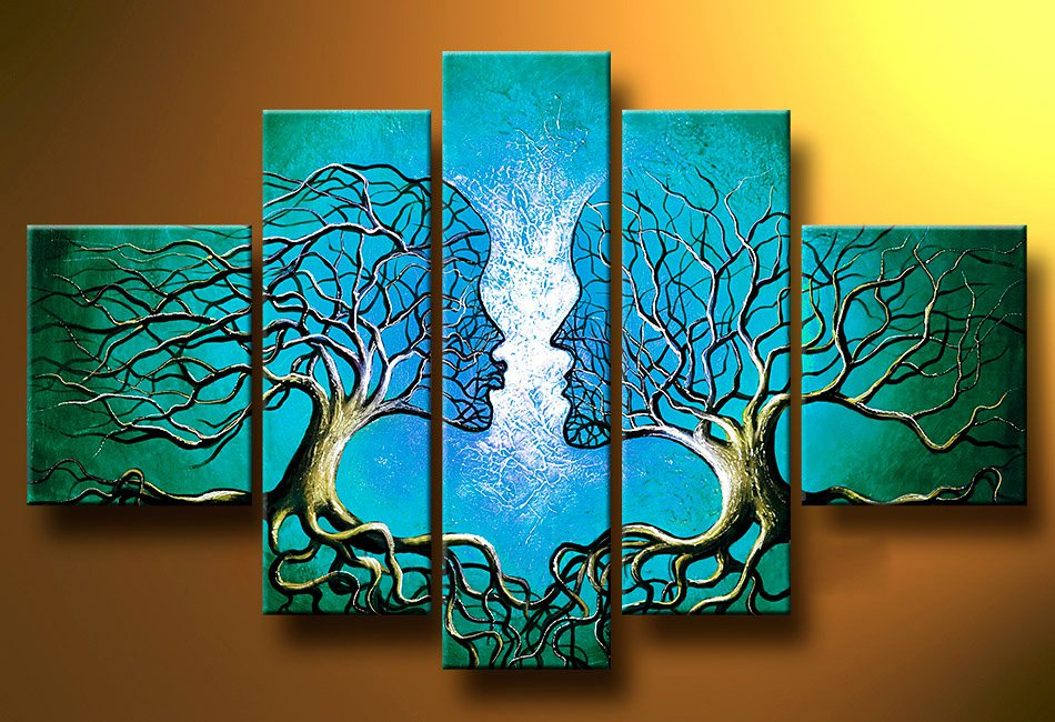 Try To Reach You! Handpainted Landscape Oil Impressionist Art Canvas Painting (+Frame) LA5-011