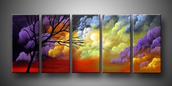 Colorful Word! Framed! Modern Wall Decor Art Landscape Huge Oil Painting On Canvas LA5-018