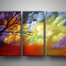 Colorful Word! Framed! Modern Wall Decor Art Landscape Huge Oil Painting On Canvas LA5-018