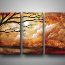 Old Tree_Framed! Modern Wall Decor Art Landscape Huge Oil Painting On Canvas LA5-019