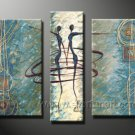 Huge Mordern Abstract Figurative Wall Decor Art Canvas Oil Painting (+ Frame) FI-055