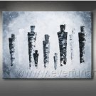 Huge Mordern Abstract Figurative Wall Decor Art Canvas Oil Painting (+ Frame) FI-088
