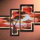 Half Sun_Canvas Oil Painting Framed African Art (+ Frame) AR-009