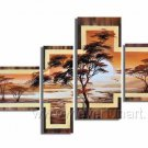 HOT SELL Wall Art_Canvas Oil Painting Framed African Art (+ Frame) AR-010