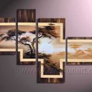 Nice African Landscape_Canvas Oil Painting Framed African Art (+ Frame) AR-013