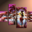 Black Woman And Tree_Canvas Oil Painting Framed African Art (+ Frame) AR-019