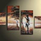 Canvas Oil Painting Framed African Art (+ Frame) AR-021