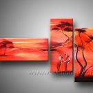 Canvas Oil Painting Framed African Art (+ Frame) AR-022