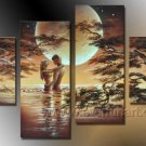 Classical Romantic Nude Lover _Canvas Oil Painting Framed African Art (+ Frame) AR-025