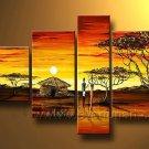 Ordinary Life_Canvas Oil Painting Framed African Art (+ Frame) AR-026