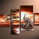 Classical Painting Of Elephant_Canvas Oil Painting Framed African Art (+ Frame) AR-028
