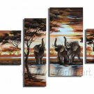 Drink Water_Canvas Oil Painting Framed African Art (+ Frame) AR-029