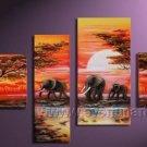 Canvas Oil Painting Framed African Art (+ Frame) AR-030