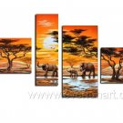 Hot Sell Group Painting _Canvas Oil Painting Framed African Art (+ Frame) AR-032