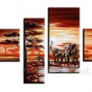 Canvas Oil Painting Framed African Art (+ Frame) AR-033