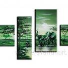 Canvas Oil Painting Framed African Art (+ Frame) AR-034