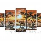 Beautiful World_Canvas Oil Painting Framed African Art (+ Frame) AR-036