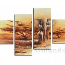 Elephant_Canvas Oil Painting Framed African Art (+ Frame) AR-038
