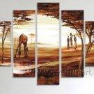Landscape Group Oil Paintings_Canvas Oil Painting Framed African Art (+ Frame) AR-039