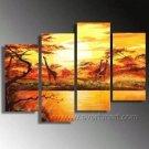 Life Under The Burnt Sun_Canvas Oil Painting Framed African Art (+ Frame) AR-042