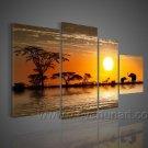 Golden Summer Sun_Canvas Oil Painting Framed African Art (+ Frame) AR-045