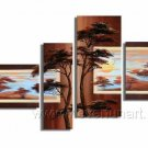 Fine Art Wall Pictures_Canvas Oil Painting Framed African Art (+ Frame) AR-048