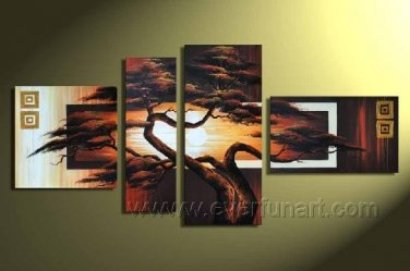 Tree Painting_Canvas Oil Painting Framed African Art (+ Frame) AR-051
