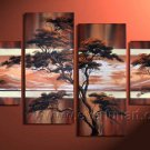 Above The Clouds At Sunrise _Canvas Oil Painting Framed African Art (+ Frame) AR-055