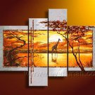 Golden Moment_Canvas Oil Painting Framed African Art (+ Frame) AR-056