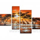 Long Way To Go_Canvas Oil Painting Framed African Art (+ Frame) AR-058