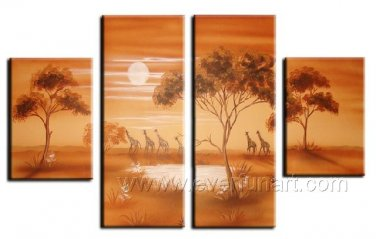 New Style Painting_Canvas Oil Painting Framed African Art (+ Frame) AR-059