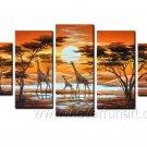 Nice Family_Canvas Oil Painting Framed African Art (+ Frame) AR-062