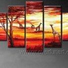Harmonious Moment_Canvas Oil Painting Framed African Art (+ Frame) AR-074