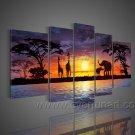 African Dawn_Canvas Oil Painting Framed African Art (+ Frame) AR-075