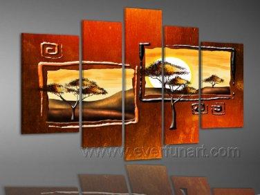 Landscape Of Africa_Canvas Oil Painting Framed African Art (+ Frame) AR-085