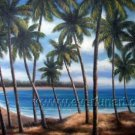 Hot Sell Summer Ocean Sight_Framed Oil on Canvas Seascape Painting SE-013
