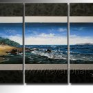 Pure Seascape Painting _Framed Oil on Canvas Seascape Painting SE-040