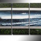 Group Painting Of Seascape_Framed Oil on Canvas Seascape Painting SE-041