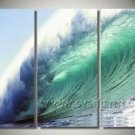 Blue Wave_Framed Oil on Canvas Seascape Painting SE-042