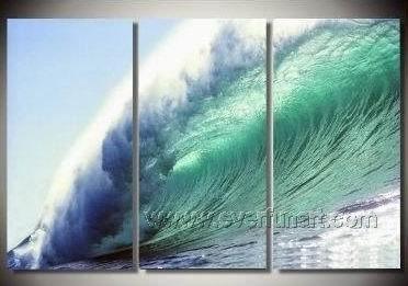 Blue Wave_Framed Oil on Canvas Seascape Painting SE-042