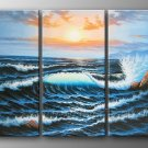 Ocean Wave_Framed Oil on Canvas Seascape Painting SE-050