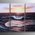 Impression Seascape Scenery_Framed Oil on Canvas Seascape Painting SE-056